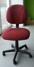 plain red desk chair